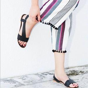 Free people under wraps black sandal size 40